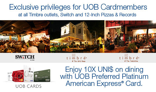 UOB CARDMEMBERS PRIVILEGES AT TIMBRE