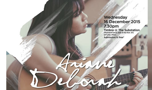 TIMBRE MUSIC PRESENTS SINGAPORE ORIGINALS: ARIANE DEBORAH