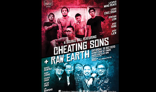 A DOUBLE BILL FEATURING CHEATING SONS & RAW EARTH
