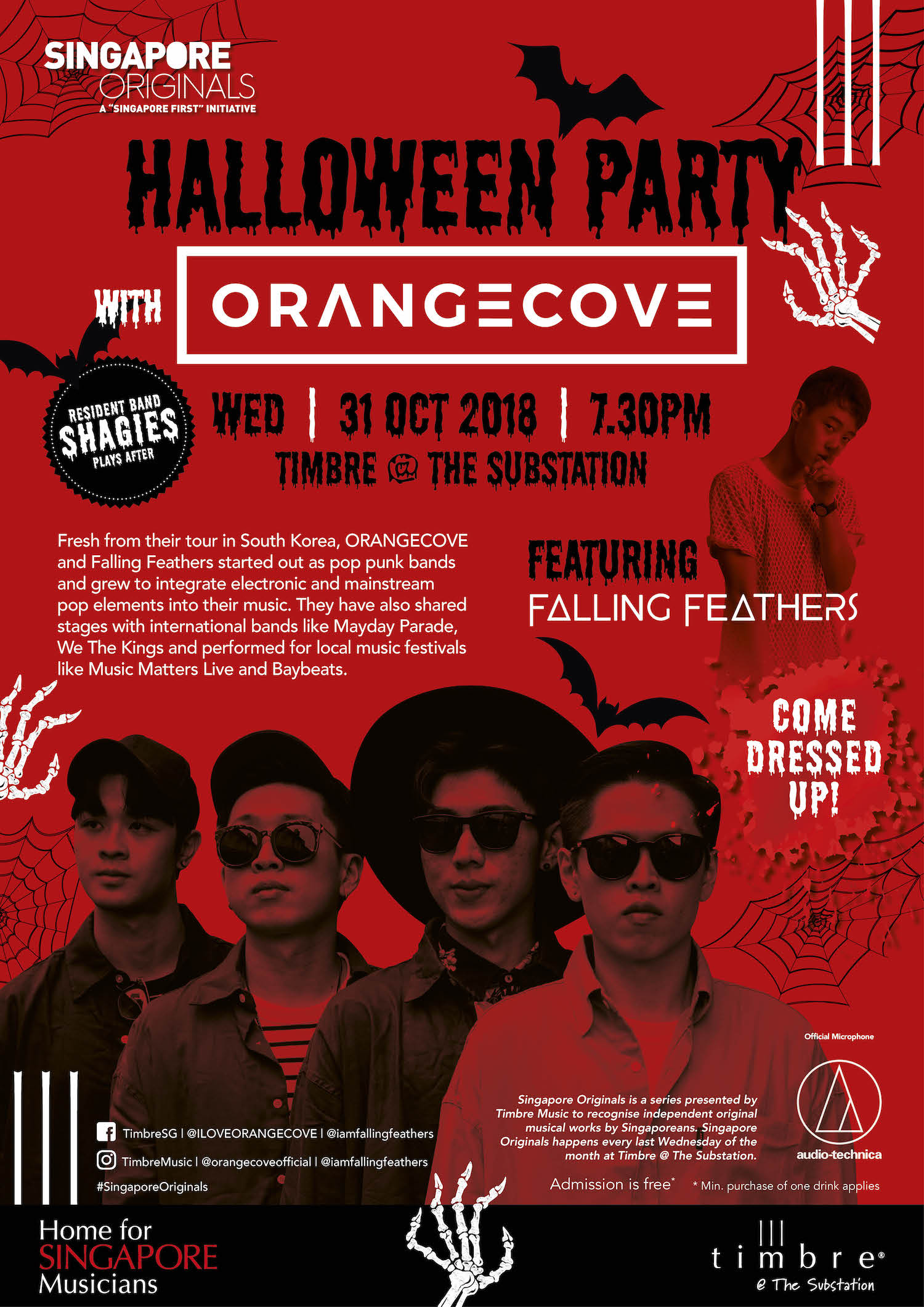 Singapore Originals Halloween Party With Orangecove Ft Falling